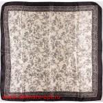 Платок головной 90*90см,  полиэстер 100%,  плетение атлас,  31-2-2-39,  белый 146533