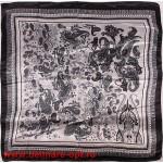 Платок головной 90*90см,  полиэстер 100%,  плетение атлас,  31-09,  белый 146534