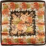 Платок головной 90*90см,  полиэстер 100%,  плетение атлас,  31-2-2-34,  коричневый 146536