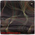 Платок головной 90*90см,  полиэстер 100%,  плетение атлас,  31-2-2-49,  черный 146542