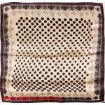 Платок головной 90*90см,  полиэстер 100%,  плетение атлас;  рис 52-2-5/1-969-2,  коричневый 146549