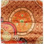 Платок головной 90*90см,  полиэстер 100%,  плетение атлас;  рис 52-2-5/1-9,  бежевый 146554