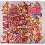 Платок головной 90*90см,  полиэстер 100%,  плетение атлас;  рис 52-2-5/1-966-2,  серый 146566