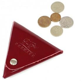 Футляр для монет Premier-F-63 натуральная кожа бордо гладкая   (82)
