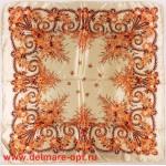 Платок головной 90*90см,  полиэстер 100%,  плетение атлас,  31-2-2-48,  бежевый 146912