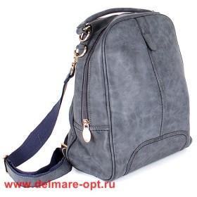 Сумка женская искусственная кожа VLS-T 20187-13 (рюкзак),  1отд,  серый 146998