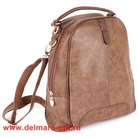 Сумка женская искусственная кожа VLS-T 20187-2 (рюкзак),  1отд,   коричневый 146999