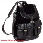 Сумка женская иск/кожа+нат/замша VLS-T 20217A-1 (рюкзак),  1отд,  черный 147000
