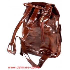 Сумка женская иск/кожа+нат/замша VLS-T 20217A-3 (рюкзак),  1отд,  коричневый 147001