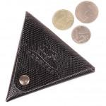Футляр для монет Premier-F-63 натуральная кожа черный игуана   (100)