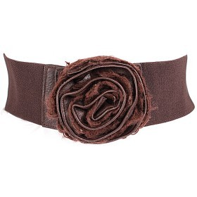 Ремень-резинка 360-5221 шир 7, 5см,  шоколад 148530