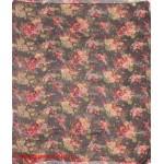 Палантин 100*180см полиэстер 100%,    плетение хлопок,    рис 230-35-3,    серый