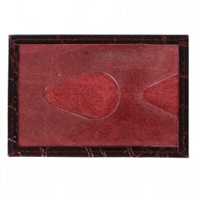 Обложка пропуск/карточка/проездной Cayman-16 натуральная кожа бордо скат   (67)