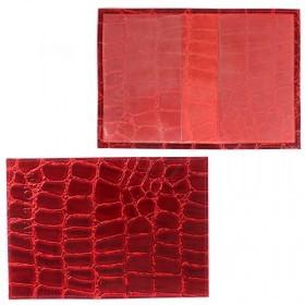 Обложка для паспорта Cayman-П 11К натуральная кожа красный скат (74)   150090