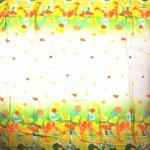 Платок 140*140см,    полиэстер 100%,    шифон,    рис романтика,    желтый