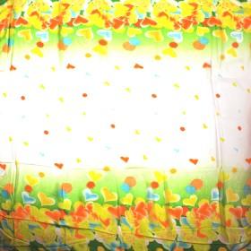 Платок 140*140см,  полиэстер 100%,  шифон,  рис романтика,  желтый 151150
