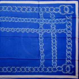 Палантин 90*185см,    полиэстер 70%,    полиамид 30%,    плетение атлас,    рис косичка,    синий