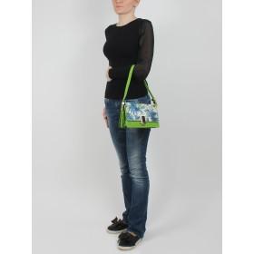 Сумка женская иск/кожа+текстиль Vensi-71733D,  1отд+карм/пер,  УЦЕНКА/ДЕФЕКТ зеленый 152354