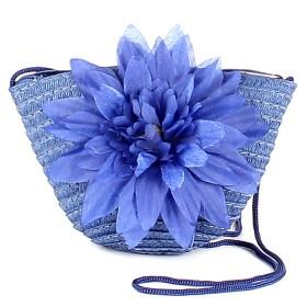 """Сумка женская текстиль 669-669 """"  Цветочек"""" ,    синий"""