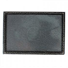 Обложка пропуск/карточка/проездной Cayman-16 натуральная кожа черный флотер (40)  154443