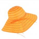 Шляпа женская текстиль    (D=45)    Беатрис-бант,    424-6 оранжевый