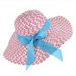 Шляпа женская текстиль    (D=45)    Консуэло-бант,    424-4,    роз+голубой
