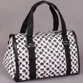 Сумка женская иск/кожа+текстиль SilverTop-3184-Натали,    1отд,    белый+черный