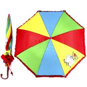"""Зонт детский 045-177,  R=45см,  """"Радуга с ажуром"""" 514-9 полуавт;  8спиц-сталь;  трость;  полиэстер,  156496"""