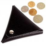 Футляр для монет Cayman-М-1 натуральная кожа черный флотер   (40)