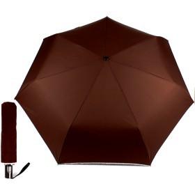 Зонт женский ТриСлона-365,  R=58см,  суперавт;  7спиц,  3слож,  полиэстер,  без рис,  коричневый 158355