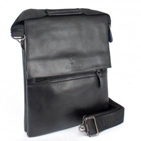 Сумка мужская искусственная кожа BF-98334-5-3В,   3отд,  2внеш+3внут карм,  плечевой ремень,  черный 159835
