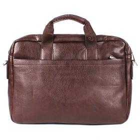 Портфель мужской искусственная кожа Cantlor-712A-02,  3отд+отд д/ноут,  2внеш+3внут/карм,  плеч/ремень,  коричневый 162815