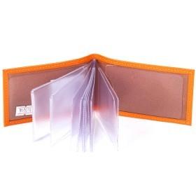 Визитница Cayman-17Л  (18листов)  натуральная кожа оранжевый матовый (19)  165014