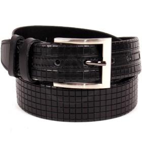 Ремень 35 мм BLT-35C 43-01R муж,  нат/кожа,  тиснение,  черный 166698