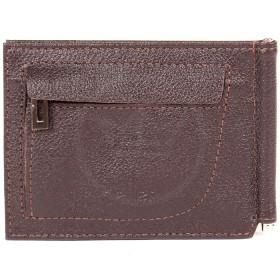 """Зажим натуральная кожа """"  Грейд""""  -Z.9.LG.   (откидной,    6внут карм,    внешний карман на молн) ,    коричневый"""