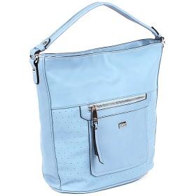 Сумка женская искусственная кожа DJ-5003-2-turquoise,  1отд,  плечевой ремень,  голубой SALE 168298