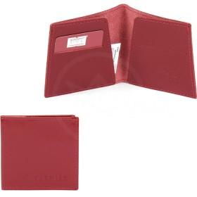 Портмоне женское Premier-М-55 натуральная кожа 1 отд,    2 карм,    красный гладкий   (135)