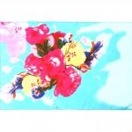 Шарф 53*160см,    полиэстер 60%,    шелк 40%,    плетение шифон,    рис 47_15_05,    голубой