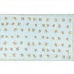Шарф 56*160см,    полиэстер 100%,    плетение шифон,    рис прованс,    голубой