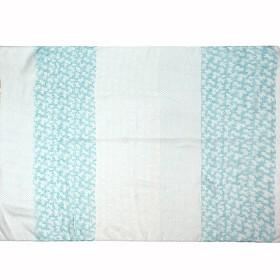 Палантин 86*176см,    полиэстер 100%,    плетение хлопок,    рис 21_35_4,    голубой