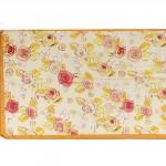 Шарф 56*150см,    полиэстер 100%,    плетение шифон,    рис розочки,    желтый