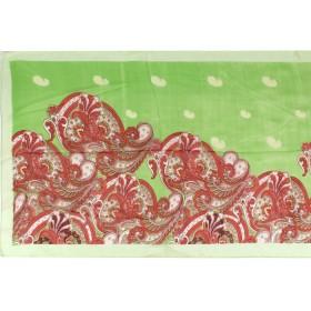 Шарф 56*150см,    полиэстер 100%,    плетение шифон,    рис сказка,    зеленый
