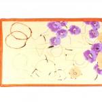 Шарф 56*150см,    полиэстер 100%,    плетение шифон,    рис письмо,    желтый