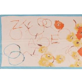 Шарф 56*150см,    полиэстер 100%,    плетение шифон,    рис письмо,    оранжевый