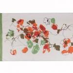 Шарф 56*150см,    полиэстер 100%,    плетение шифон,    рис маки,    зеленый