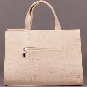 Сумка женская искуственная кожа ELM-002 АллигаторБеж;    1 отд+карман пер/плеч ремень SALE