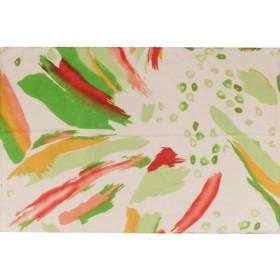 Шарф 56*150см,    полиэстер 100%,    плетение шифон,    рис комета,    зеленый
