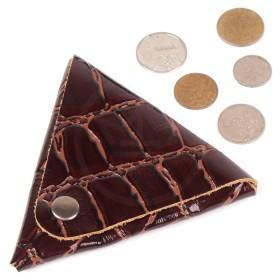 Футляр для монет Premier-F-63 натуральная кожа корич. крокодил крупный   (3)