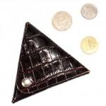 Футляр для монет Premier-F-63 натуральная кожа коричневый тем.крокодил   (83)