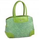 Сумка женская искуственная кожа ADEL-14,  1отд+карм/пер,  зеленый+крок SALE 172706